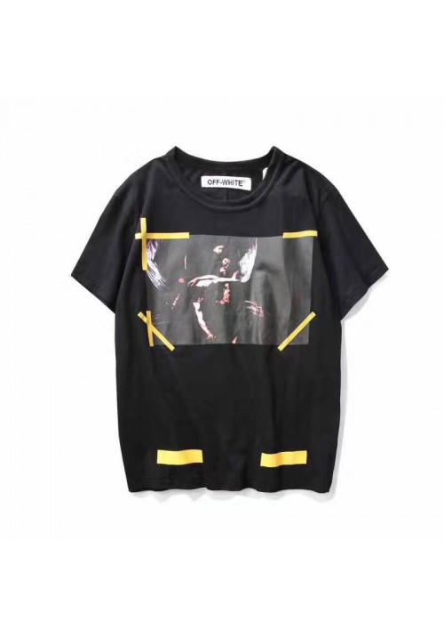 Off White Caravaggio Religious T-Shirt (Black)