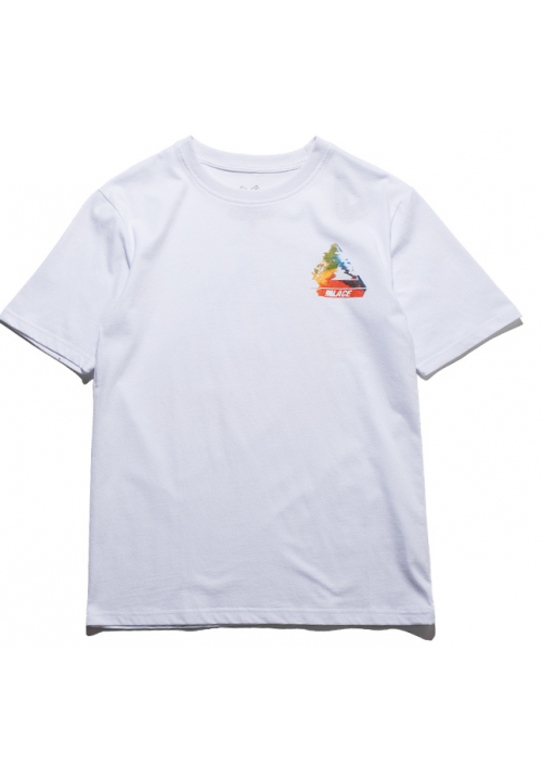 Palace Smudge Pyramid T-Shirt (White)