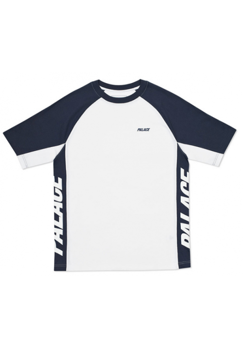 Palace Vertical Label T-Shirt (Blue/White)