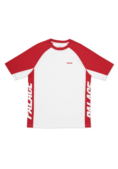 Palace Vertical Label T-Shirt (Red/White)