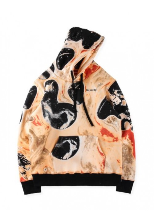 Supreme Blood And Semen Hoodie (Black/Orange)
