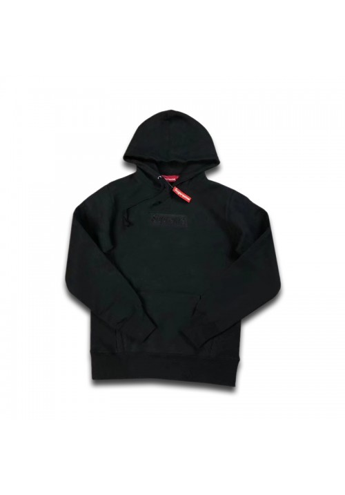 Supreme Black Box Logo Pullover Hoodie (Black)