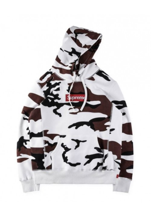Supreme Camouflage Hoodie (Brown/White)