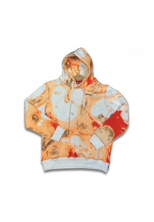 Supreme Blood And Semen Hoodie (Orange/White)
