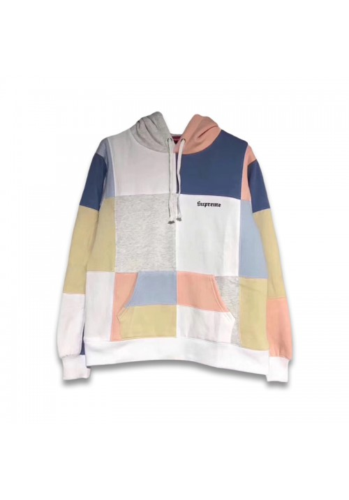 Supreme Logo FW17 Patchwork Hoodie (White)