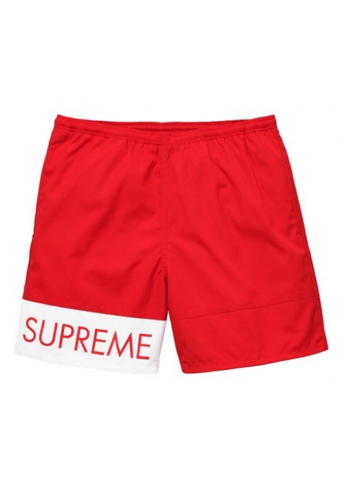 Supreme Banner Water Shorts (Red)