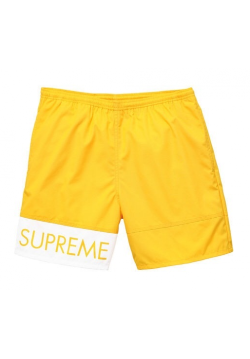 Supreme Banner Water Shorts (Yellow)