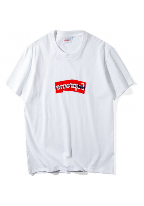 Supreme CDG Box Logo T-Shirt (White)