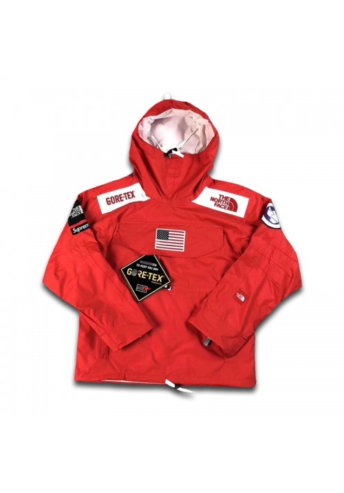 The North Face Supreme Gore Tex Expedition Pullover Hoodie (Red)