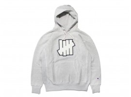 Undefeated 5 Strike Pouch Hoodie (Gray)