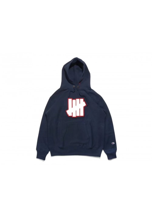 Undefeated 5 Strike Pouch Hoodie (Navy)