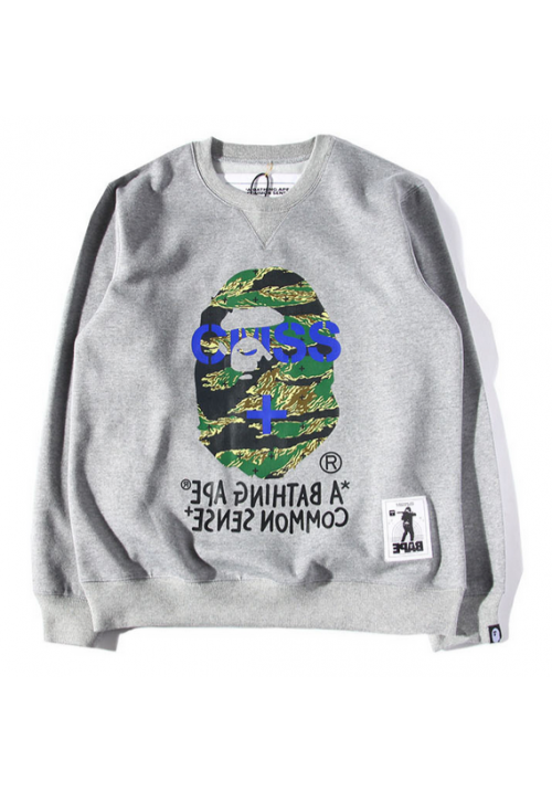 a869728a8d99 A Bathing Ape CMSS Common Sense Sweater (Gray)