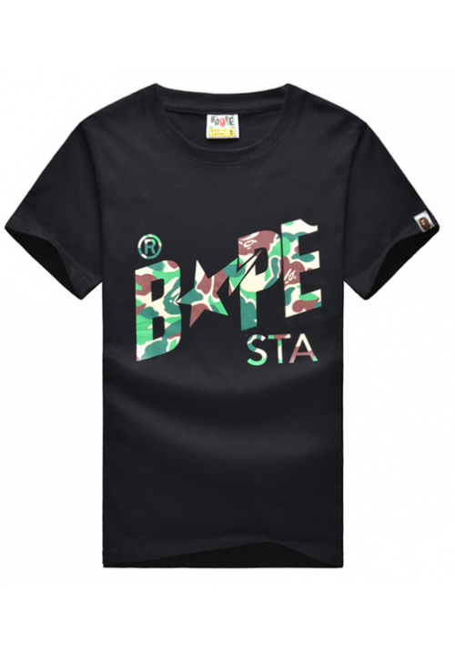 A Bathing Ape Bape Camo Sta T-Shirt (Black)