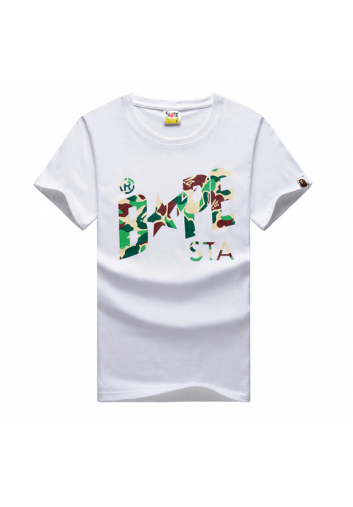 A Bathing Ape Bape Camo Sta T-Shirt (White)