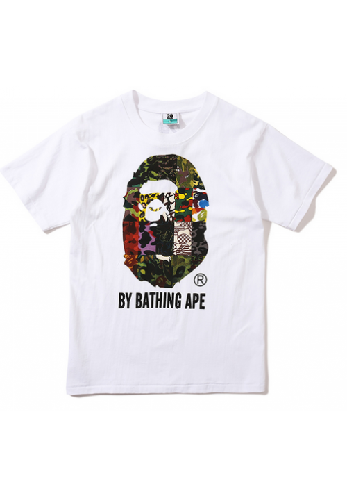 A Bathing Ape Bape Collage T-Shirt (White)