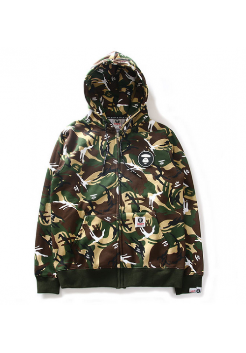 Aape All Over Army Camo Hoodie (Green)