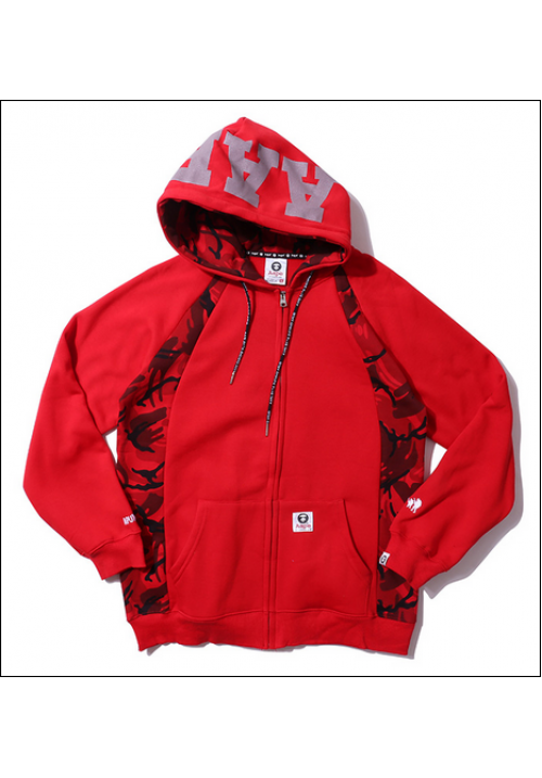 Aape The AAPE Universe Jacket Hoodie (Red)
