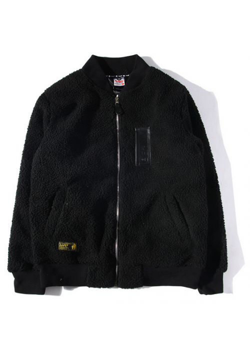 AAPE Fleece Ma1 Jacket (Black)
