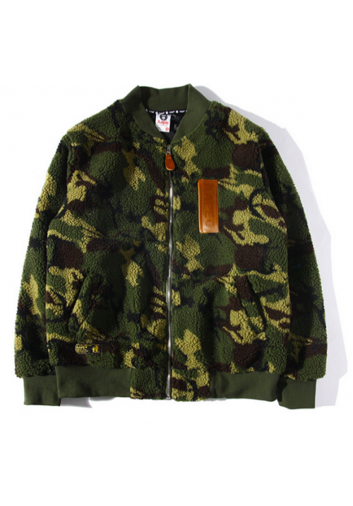 AAPE Fleece Ma1 Camo Jacket (Camo/Green)