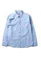 Aape Bape Oxford Flag Face Button Up Shirt (Blue)