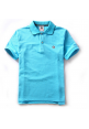 Aape Simple Color Collar Polo Shirt (Blue)