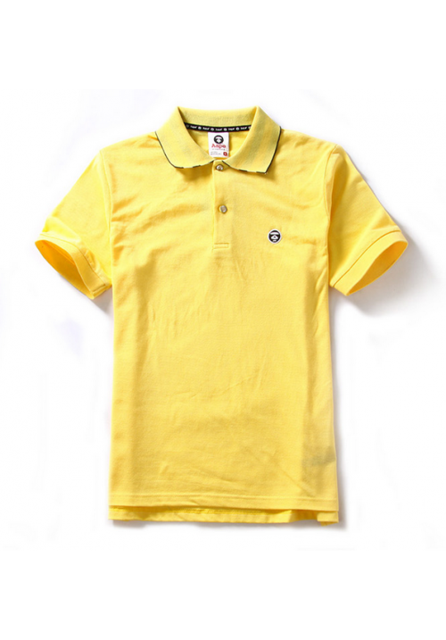 Aape Simple Color Collar Polo Shirt (Yellow)