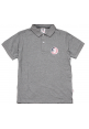 Aape Snag It Flag Face Polo Shirt (Gray)