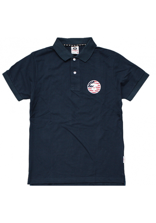 Aape Snag It Flag Face Polo Shirt (Navy Blue)
