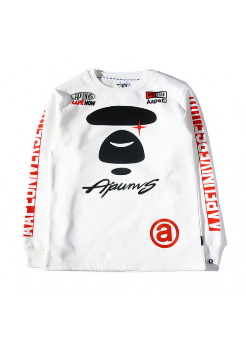 AAPE Now Universe Apunvs Sweater (White)