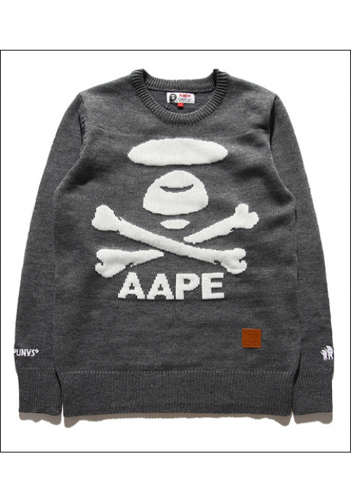 AAPE Logo Icon Sweater (Gray)