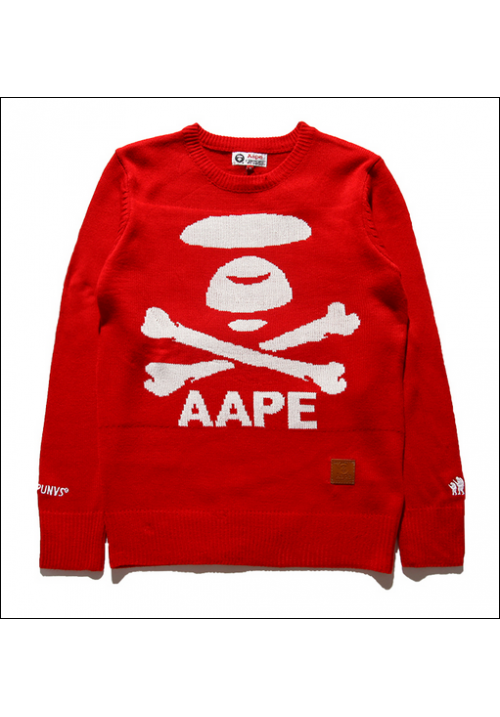 AAPE Logo Icon Sweater (Red)