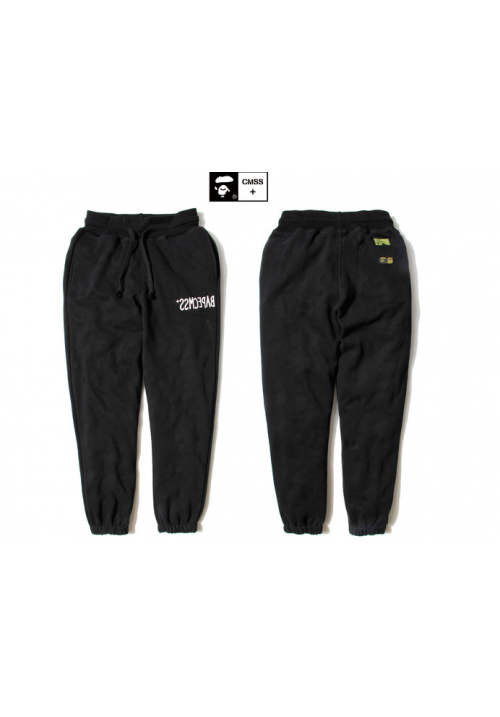 AAPE CMSS Bape Camo Sweatpants (Black)