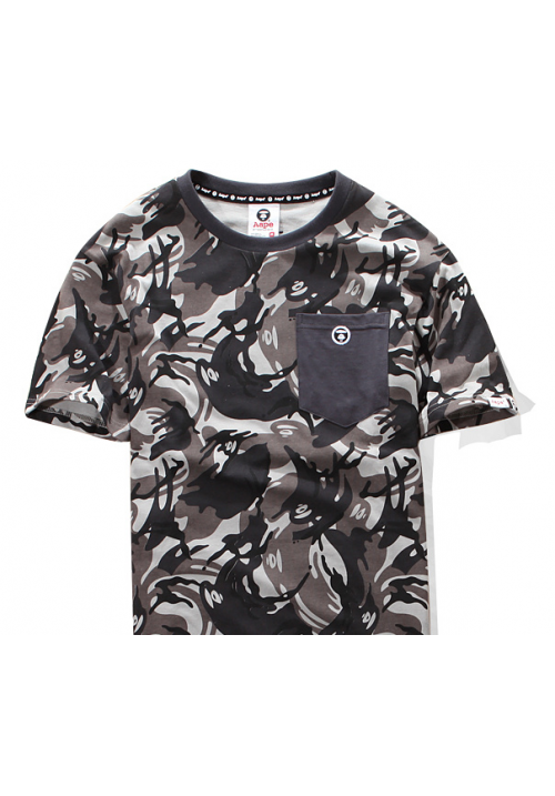 Aape Bape Camo Pocket T Shirt (Gray)
