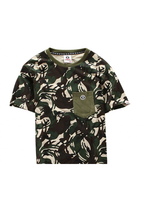 Aape Bape Camo Pocket T Shirt (Green)