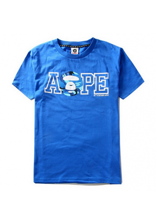 Aape Camo Face A T-Shirt (Blue)