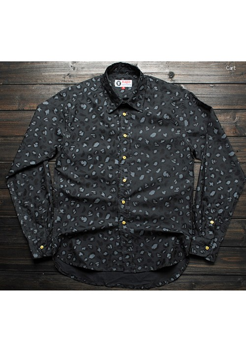 AAPE Camouflage Face Button-up Shirt (dark gray)