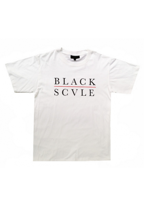 Black Scale Red Line T-Shirt (White)