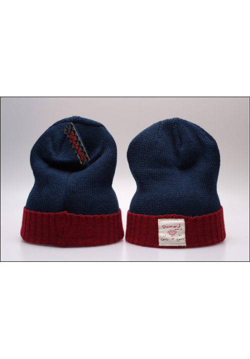 Diamond Supply CO Box Logo Beanie Hat (Blue/Maroon)
