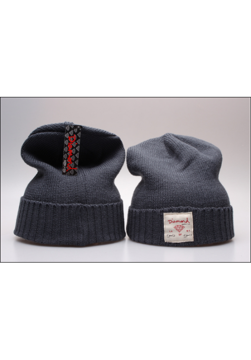 Diamond Supply CO Box Logo Beanie Hat (Gray)
