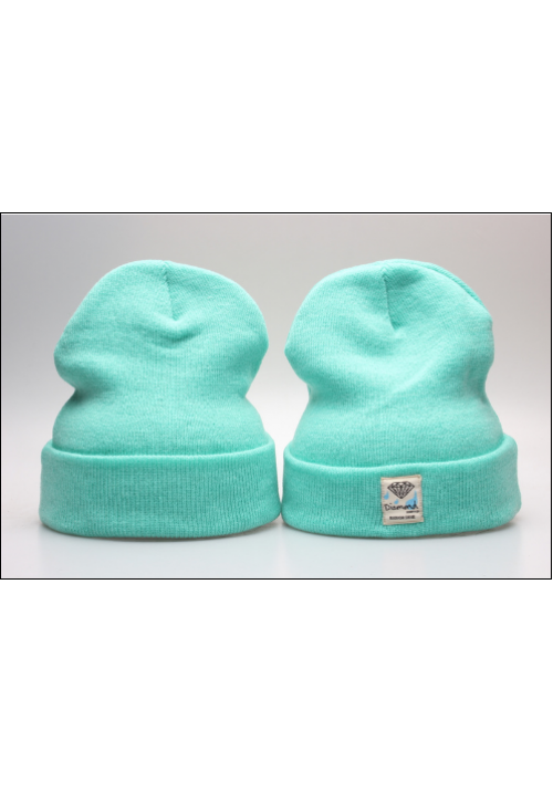 Diamond Supply CO Box Logo Beanie Hat (Light/Blue/Green)