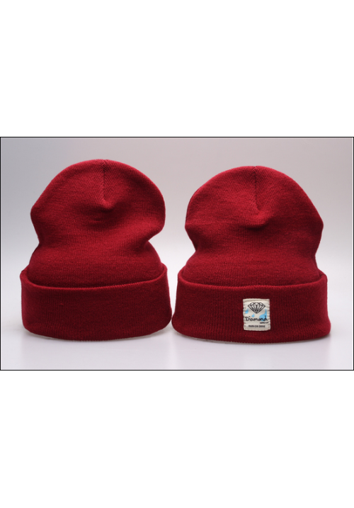 Diamond Supply CO Box Logo Beanie Hat (Maroon)