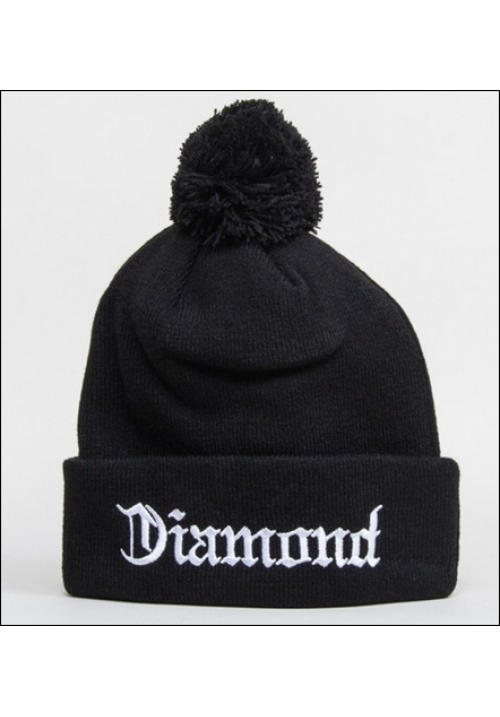 Diamond Supply CO Text Logo Beanie Hat (Black)