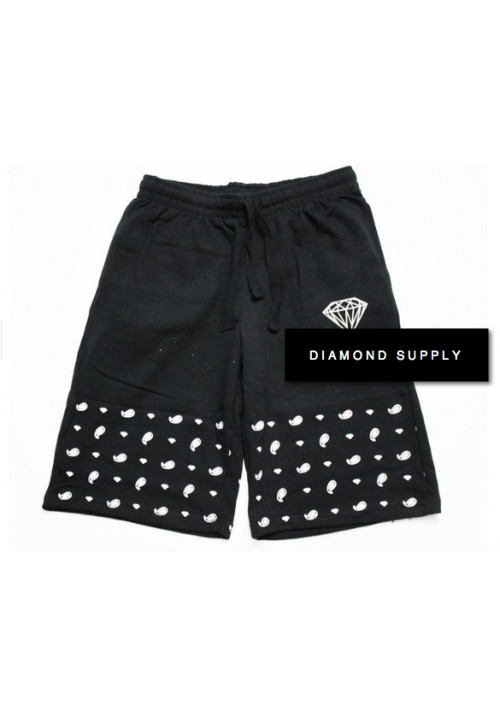 Diamond Supply Half Paisley Shorts (Black)