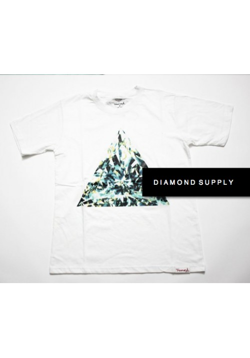 Diamond Supply Triangle Stone T-Shirt (White)