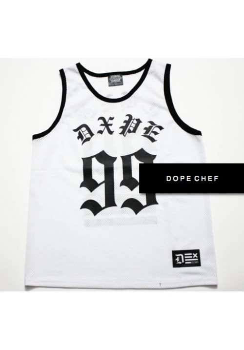 523dc687a8773 Dope Chef 99 Classic Net Jersey (White)