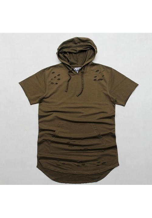 Flying Ninety Hood Shortsleeves Sweater (army green)
