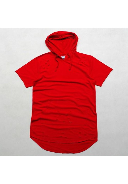 Flying Ninety Hood Shortsleeves Sweater (red)