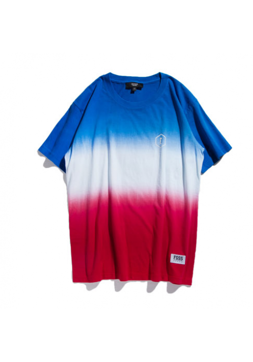 Forgiveness Gradient Ombre Style T-shirt (Red/White)