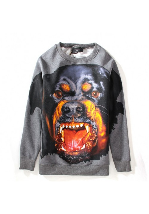 "Givenchy ""Dog Face Printed"" Sweater (Gray)"