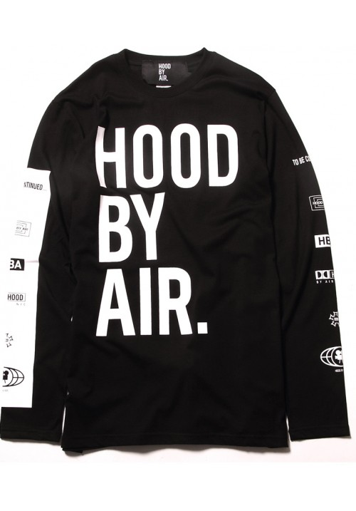 "HBA ""Large Letters And Trademark Printed"" Sweater (Black)"